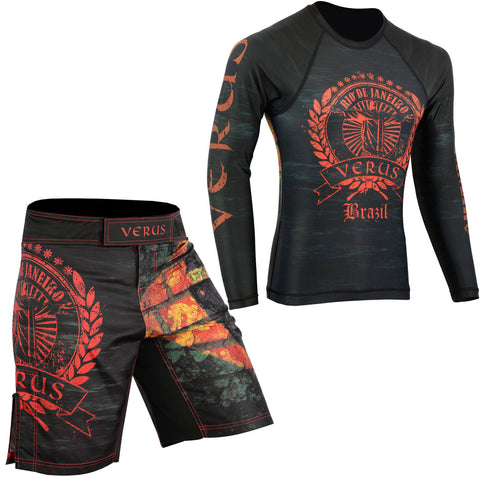 VERUS Brazil Style Rash Guard and MMA Shorts Set