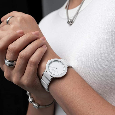 White on white Bering watch for women
