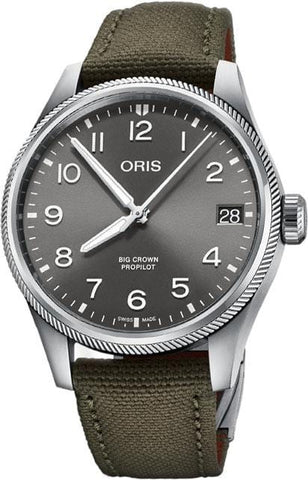 Oris Big Crown ProPilot Big Date 41mm Olive Strap Men's Watch 01 751 7761 4063-07 3 20 03LC