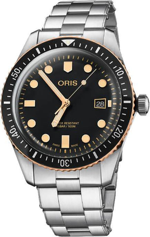 Oris Divers Sixty-Five Bronze Stainless Steel 42mm Men's Watch 01 733 7720 4354-07 8 21 18