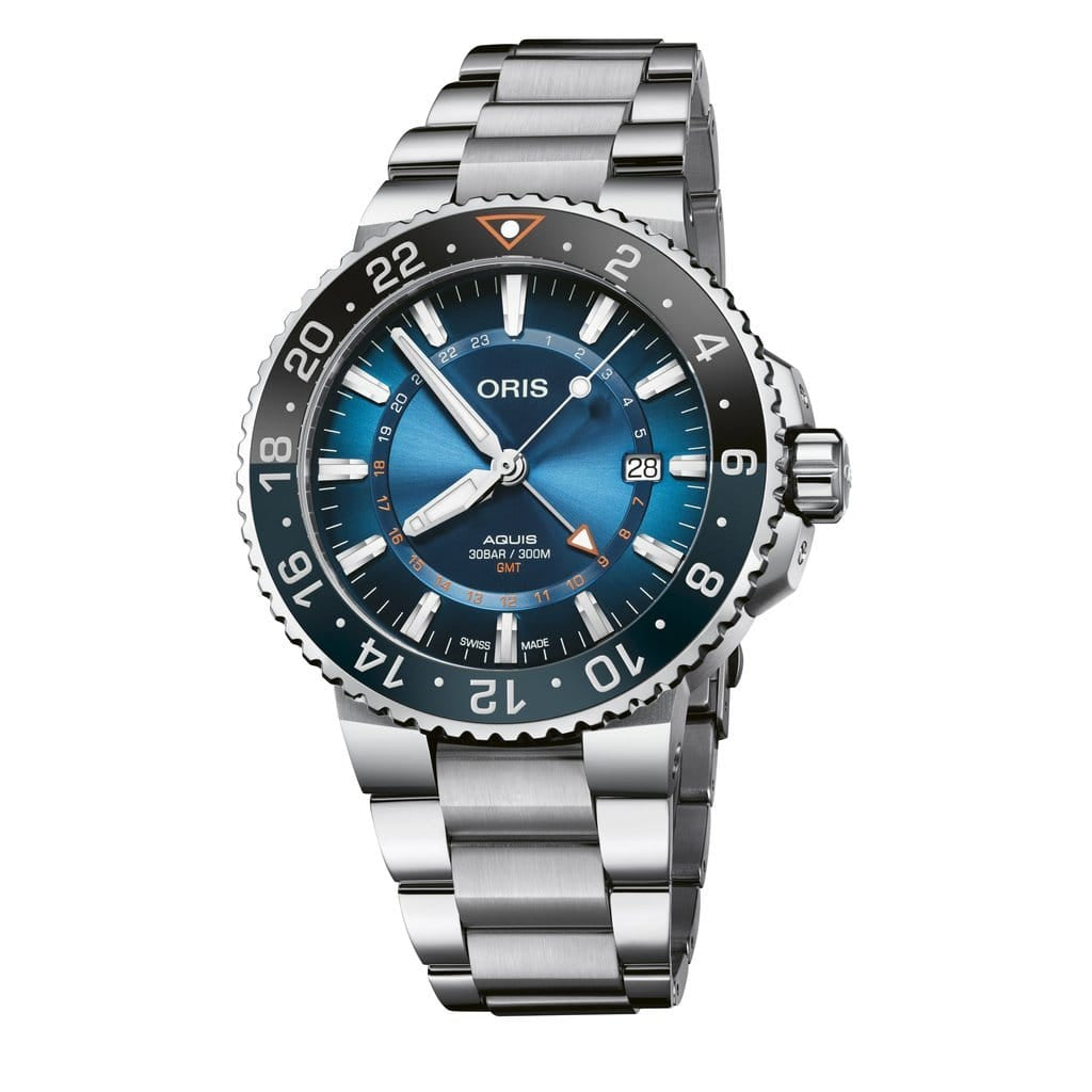 Oris Aquis Carysfort Reef Limited Edition Stainless Steel Men's Watch 01 798 7754 4185-Set MB