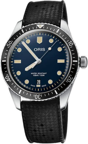 Oris Divers Sixty-Five Blue Dial Black Rubber Strap Men's Watch 01 733 7707 4055-07 4 20 18