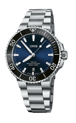 Oris Aquis Date 41.5mm Stainless Steel Men's Watch 01 733 7766 4135-07 8 22 05PEB