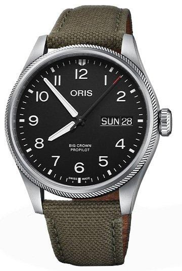 Oris Big Crown ProPilot Big Day Date Olive Strap Men's Watch 01 752 7760 4164-07 3 22 02LC
