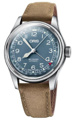 Oris Big Crown Pointer Date Blue Dial Leather Strap Men's Watch 01 754 7741 4065-07 5 20 63
