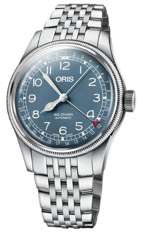 Oris Big Crown Pointer Date Blue Dial Steel Men's Watch 01 754 7741 4065-07 8 20 22