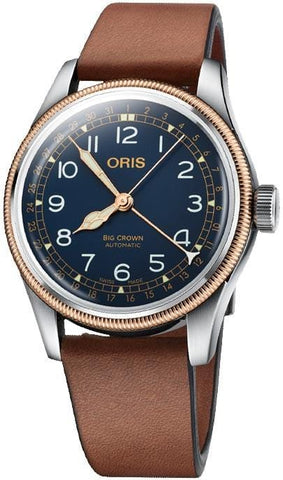 Oris Big Crown Pointer Date Blue Dial Bronze Bezel Men's Watch 01 754 7741 4365-07 5 20 58