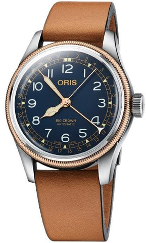 Oris Big Crown Pointer Date Blue Dial Bronze Bezel Men's Watch 01 754 7741 4365-07 5 20 71