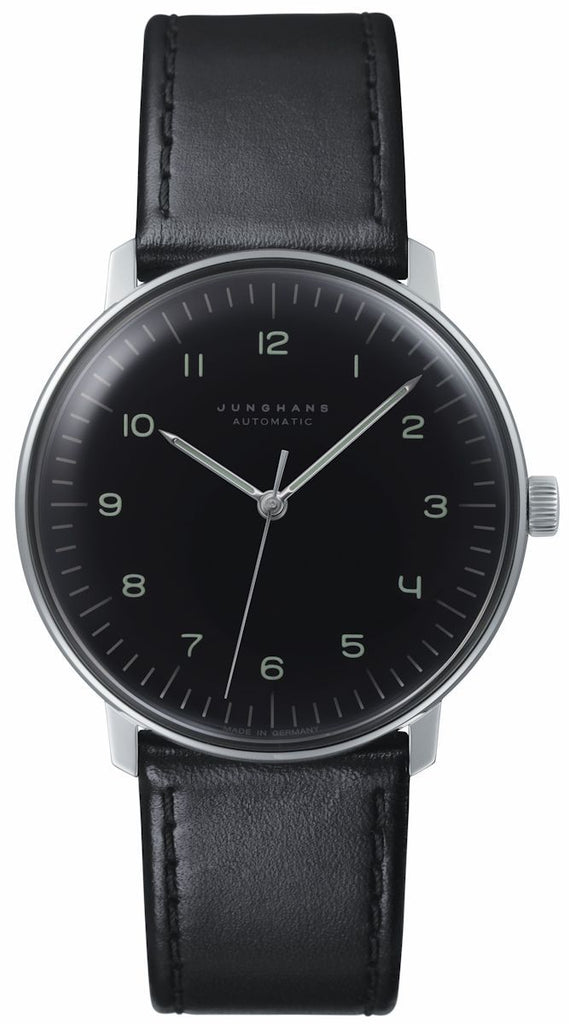 Junghans Max Bill Automatic 38mm Black Dial Men's Watch 027/3400.04
