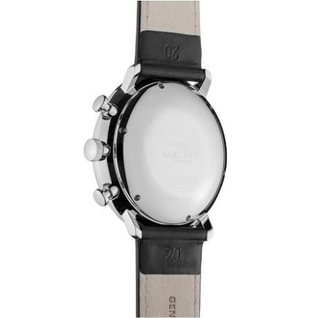 Junghans Max Bill Chronoscope Automatic Black Leather Strap Men's Watch 027/4601.04