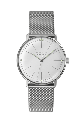 Junghans Max Bill Hand-Winding Mesh Strap Unisex Watch 027/3004.48