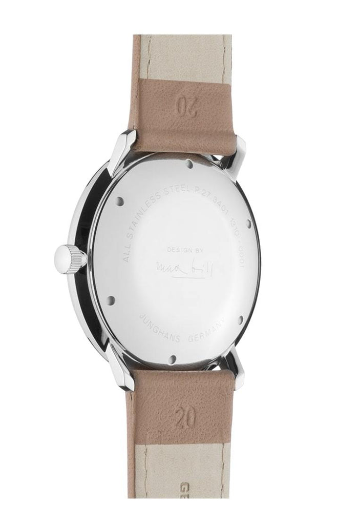 Junghans Max Bill Automatic 38mm Tan Leather Strap Men's Watch 027/3502.00
