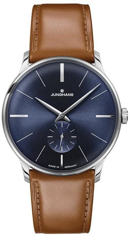 Junghans Meister Hand-Winding Blue DIal Men's Watch 027/3504.00