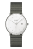 Junghans Max Bill Klein Automatic 38mm White Dial Textile Strap Men's Watch 027/4001.04