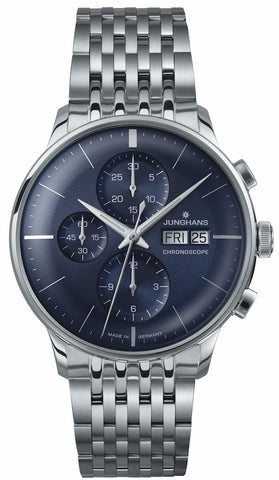 Junghans Meister Chronoscope Automatic Blue Dial Men's Watch 027/4528.45
