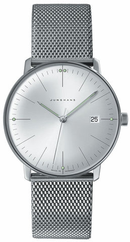 Junghans Max Bill Quartz 38mm Silver Sunray Dial Men's Watch 041/4463.44