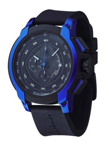 Ritmo Mundo Quantum 1 Blue 50mm Stainless Steel-Aluminum Case Chrono Men's Watch 1001/2 Blue