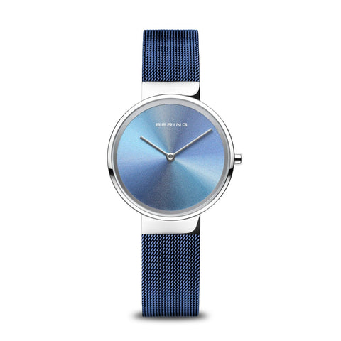 BERING Anniversary 31mm Multicolor Dial Blue Mesh Band Women's Watch 10X31-Anniversary2