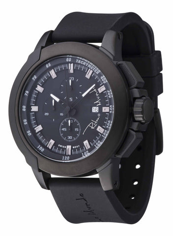 Ritmo Mundo Quantum 2 Black 50mm Stainless Steel-Aluminum Case Sports Men's Watch 1101/1 Black