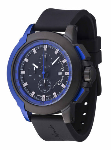 Ritmo Mundo Quantum 2 Blue 50mm Stainless Steel-Aluminum Case Sports Men's Watch 1101/2 Blue