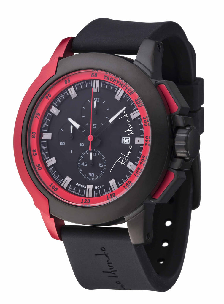 Ritmo Mundo Quantum 2 Red 50mm Stainless Steel-Aluminum Case Sports Men's Watch 1101/4 Red