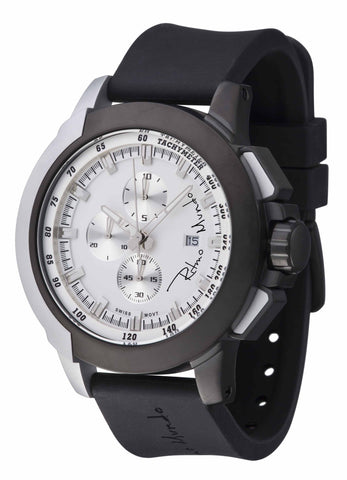 Ritmo Mundo Quantum 2 Black White 50mm Stainless Steel-Aluminum Case Sports Men's Watch 1101/8
