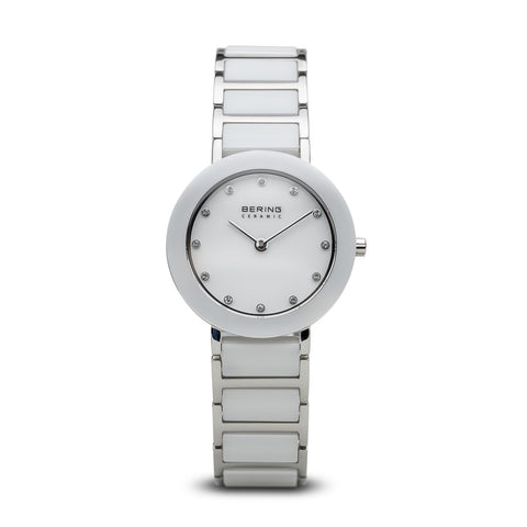 BERING 11429-754 Women's Watch Two-Tone Ceramic/Stainless Steel White Dial