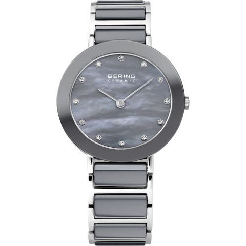 BERING 11429-789 Women's Watch Gray Mother of Pearl Two-Tone Ceramic/Stainless Steel