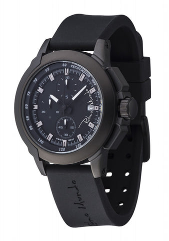Ritmo Mundo Quantum 2 Black 43mm Stainless Steel-Aluminum Case Sports Men's Watch 1151/1 Black