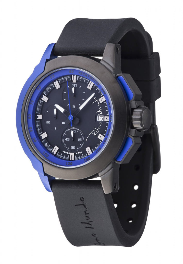 Ritmo Mundo Quantum 2 Blue 43mm Stainless Steel-Aluminum Case Sports Men's Watch 1151/2 Blue