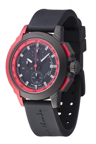 Ritmo Mundo Quantum 2 Red 43mm Stainless Steel-Aluminum Case Sports Men's Watch 1151/4 Red
