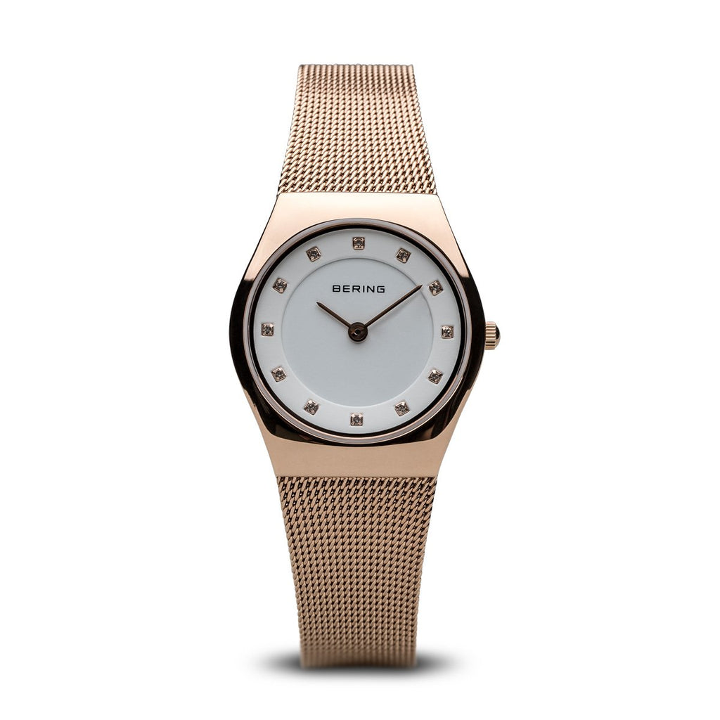 BERING Classic 27mm Polished Rose Gold Women's Watch 11927-366