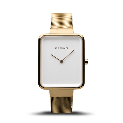 BERING Classic Rectangle Case Gold-White Women's Watch 14528-334