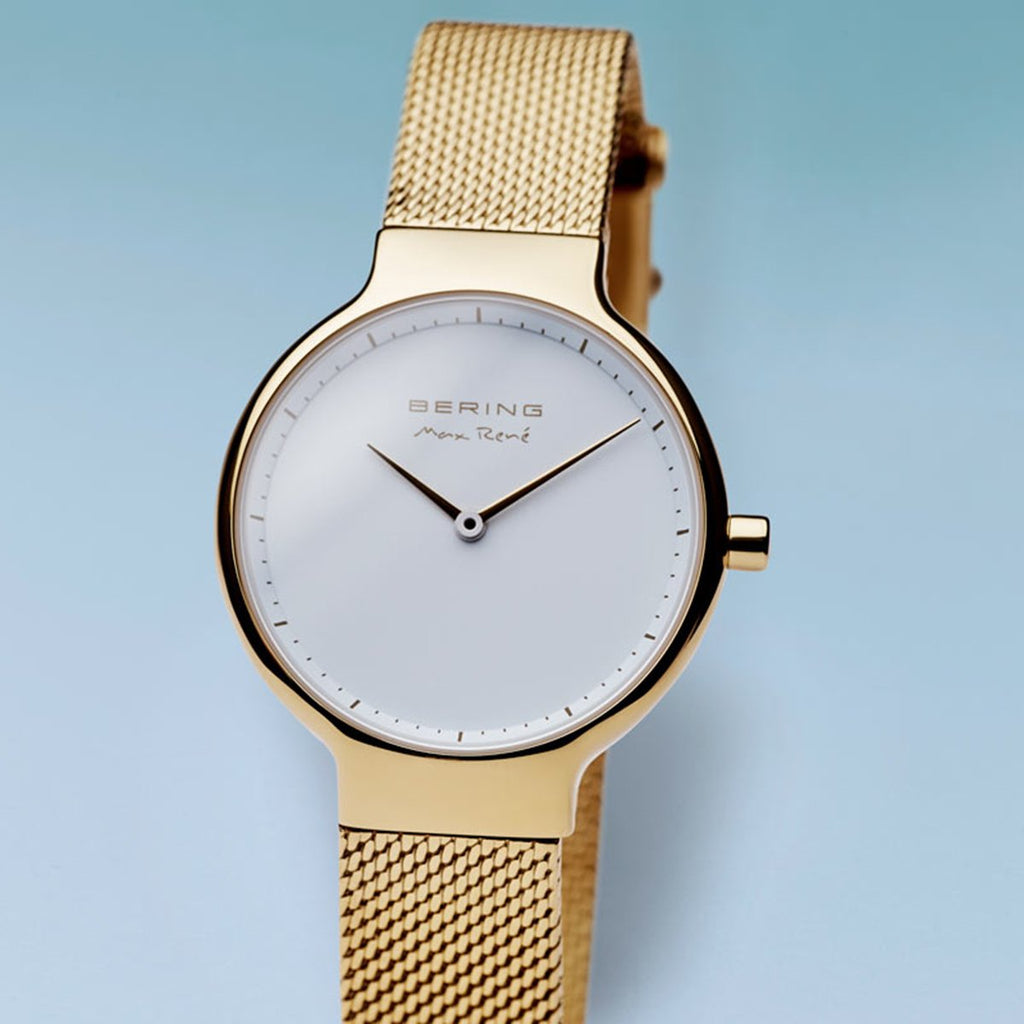 BERING Max Rene 31mm Gold Mesh Band Women's Watch 15531-334