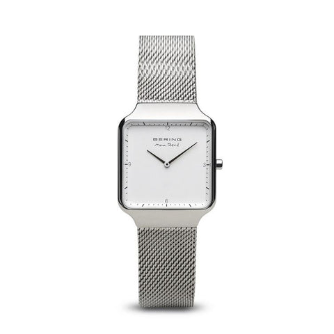 BERING Max Rene 32mm Polished Silver Milanese Strap Women's Watch 15832-004