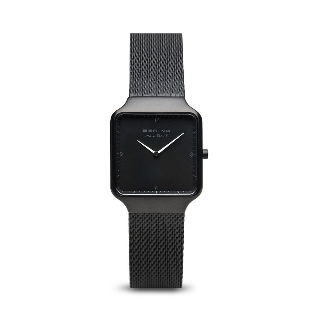 BERING Max Rene 32mm Matte Black Milanese Strap Women's Watch 15832-123