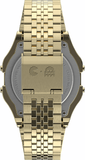 Timex T80 x PAC-MAN 34mm Digital Gold Stainless Steel Unisex Watch TW2U32000