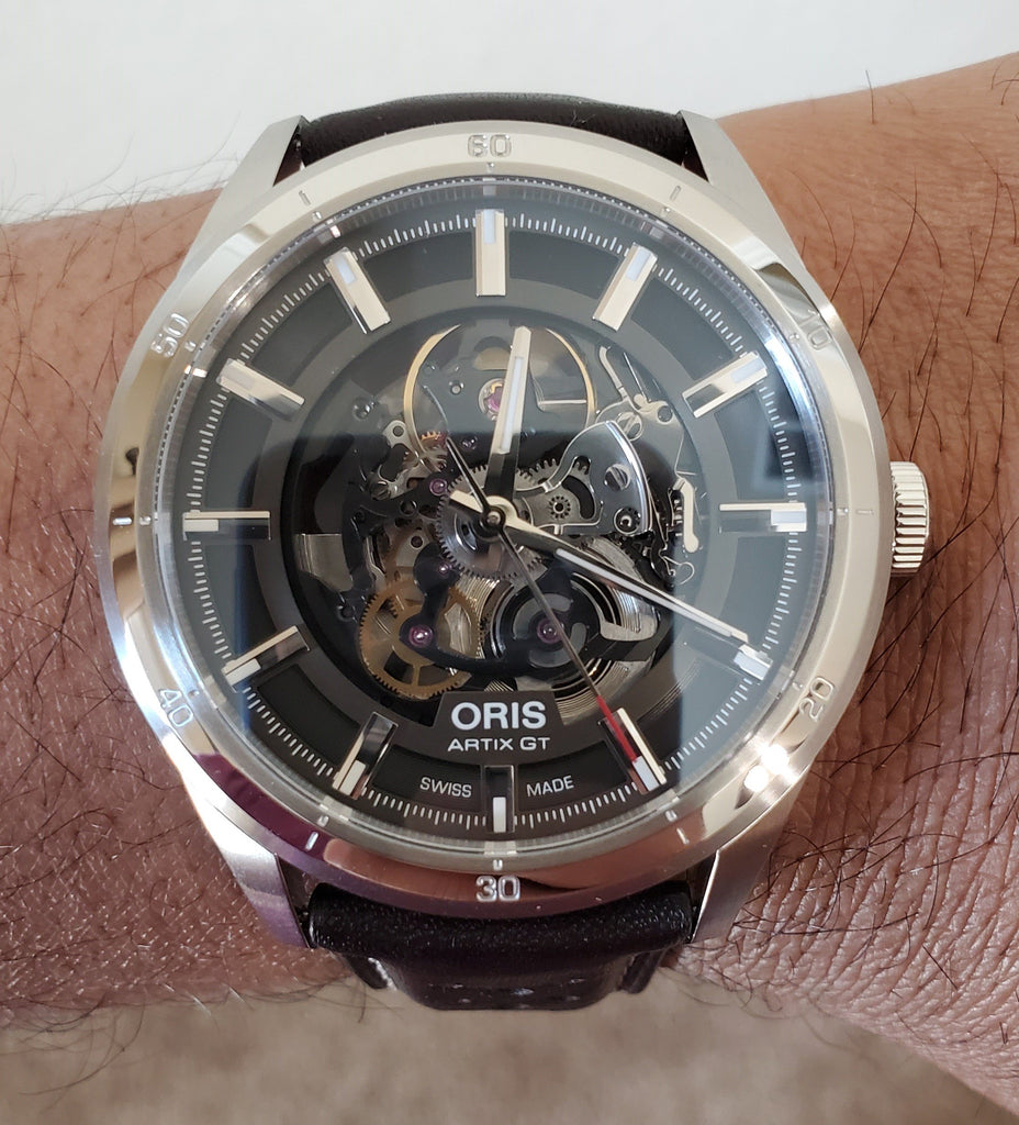 Oris Artix GT Skeleton Dial Brown Leather Strap Men's Watch 01 734 7751 4133-07 5 21 09FC