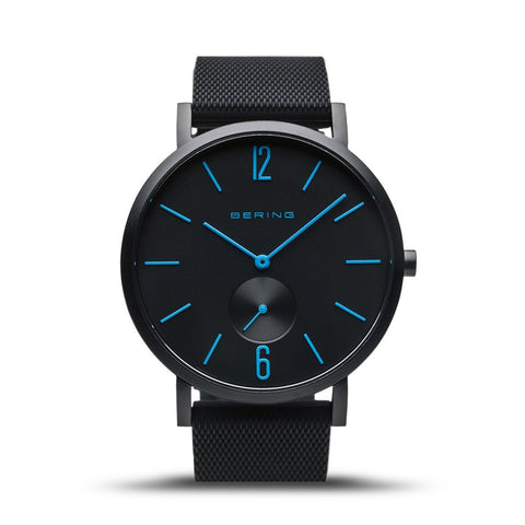 BERING True Aurora Matte Black 40mm Unisex Watch 16940-499