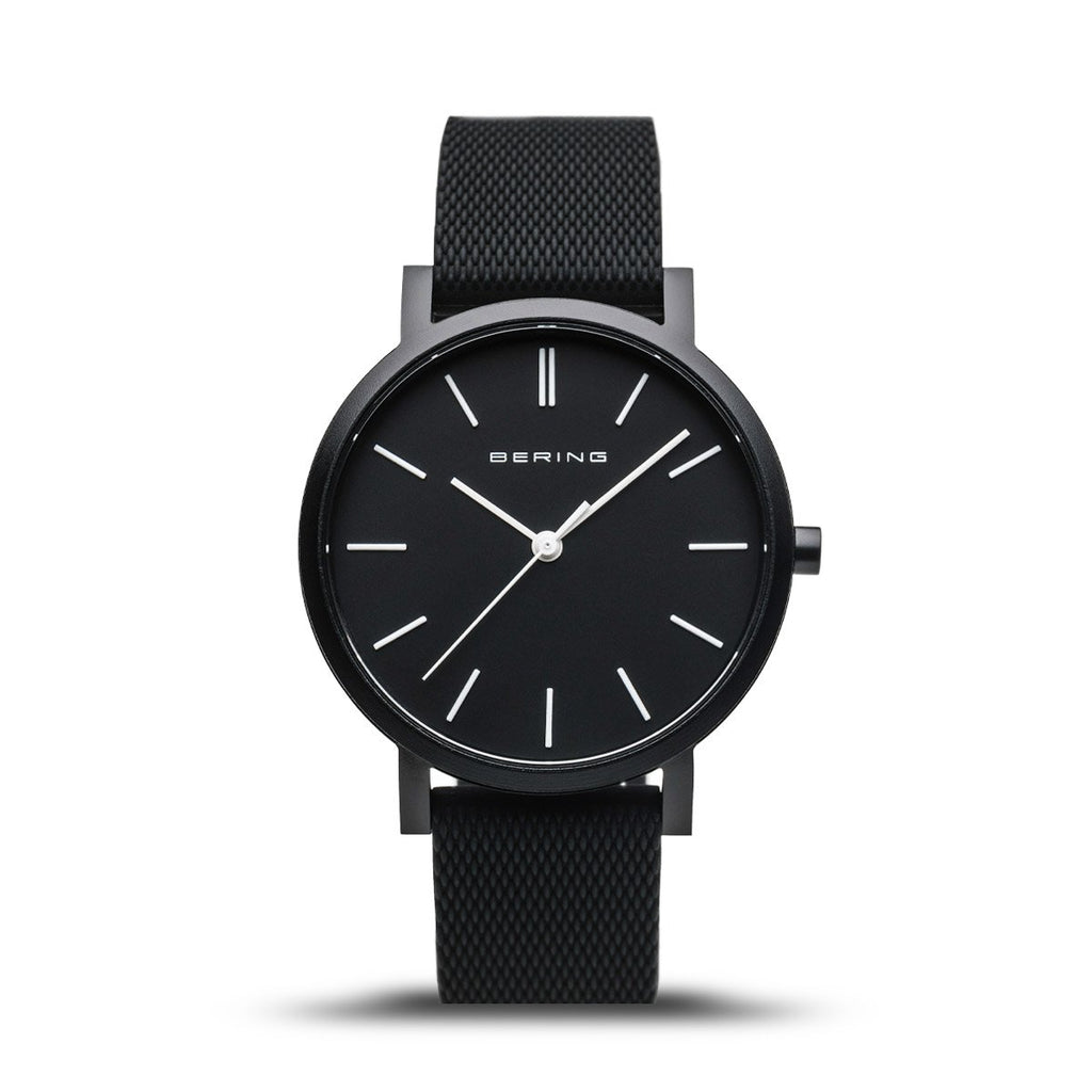 BERING True Aurora Matte Black 34mm Unisex Watch 16934-499