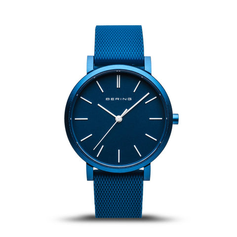 BERING True Aurora Matte Blue 34mm Unisex Watch 16934-799