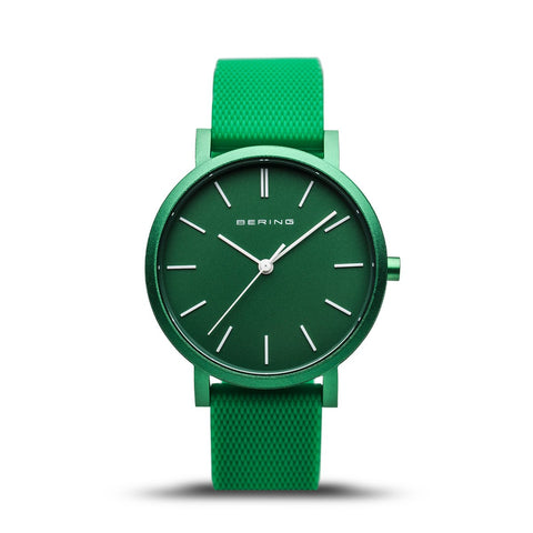 BERING True Aurora Matte Green 34mm Unisex Watch 16934-899