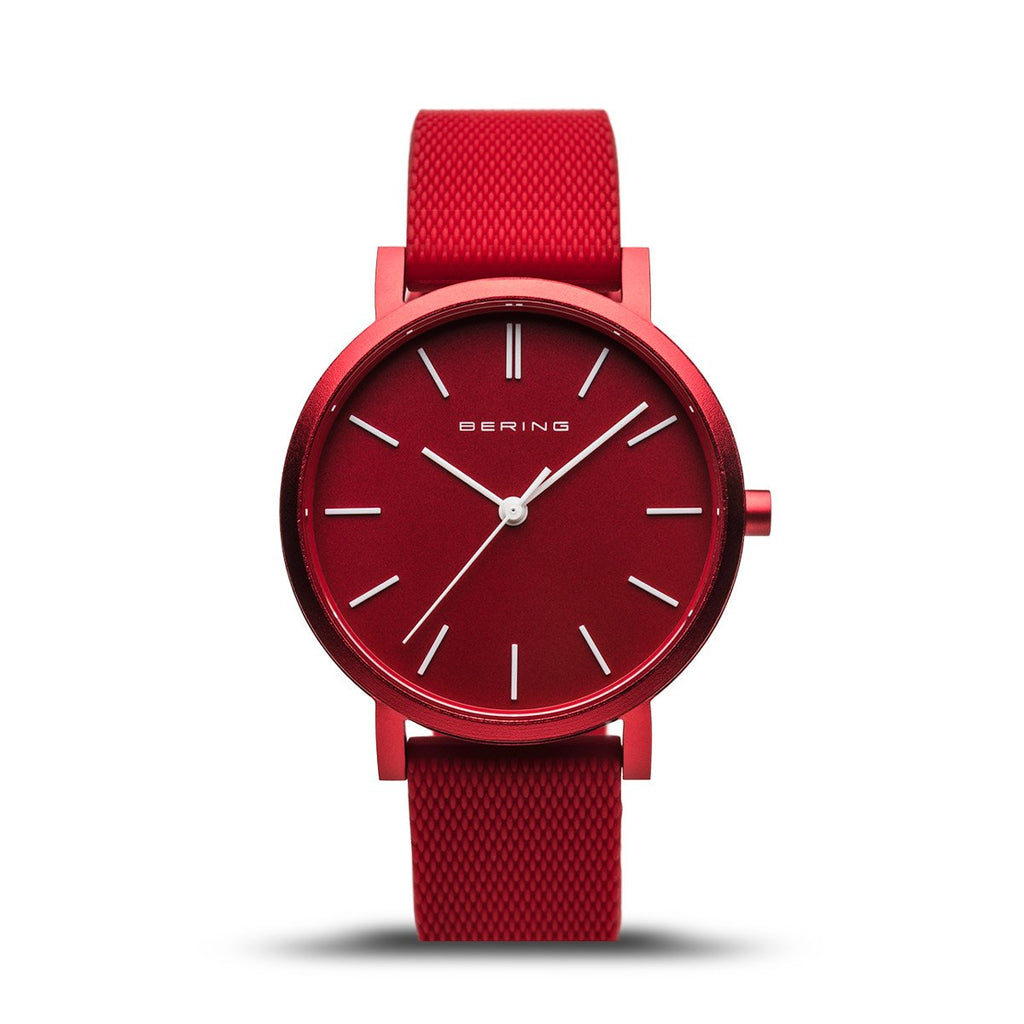 BERING True Aurora Matte Red 34mm Unisex Watch 16934-599