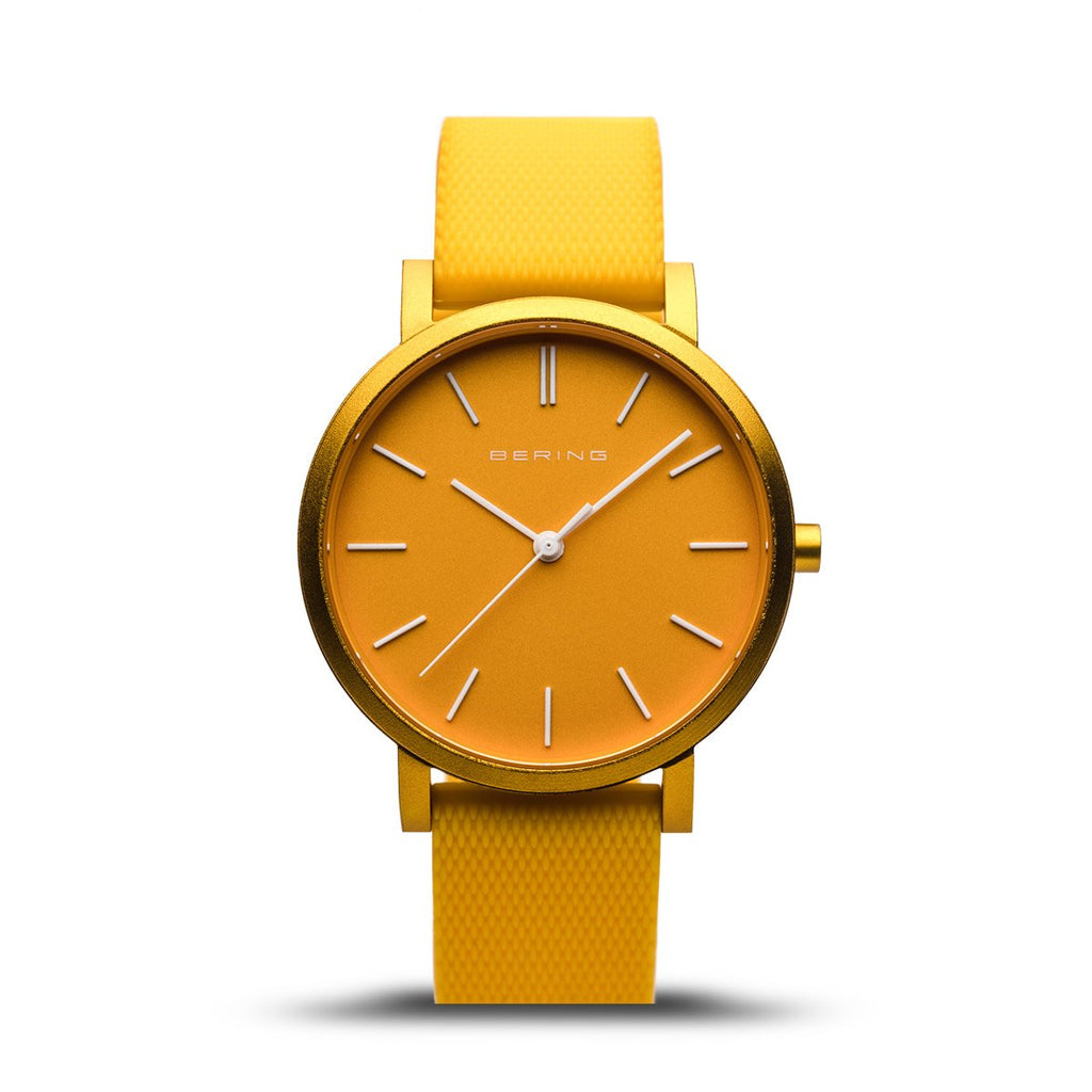 BERING True Aurora Matte Yellow 34mm Unisex Watch 16934-699