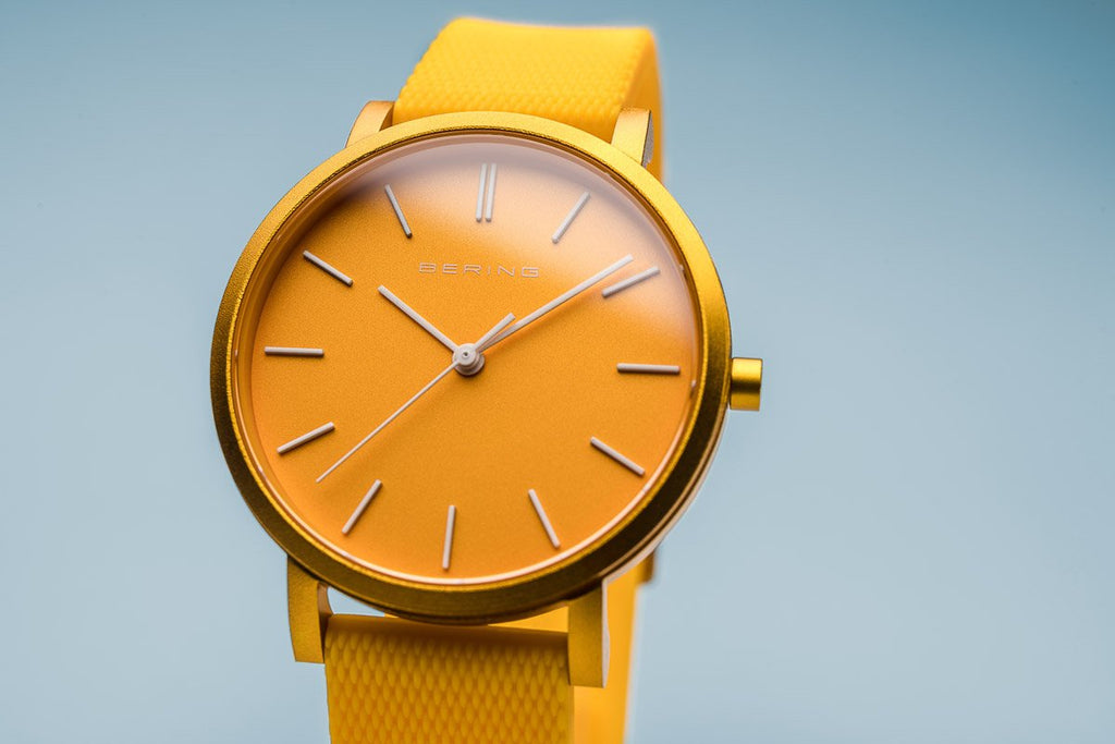 BERING True Aurora Matte Yellow 40mm Unisex Watch 16940-699