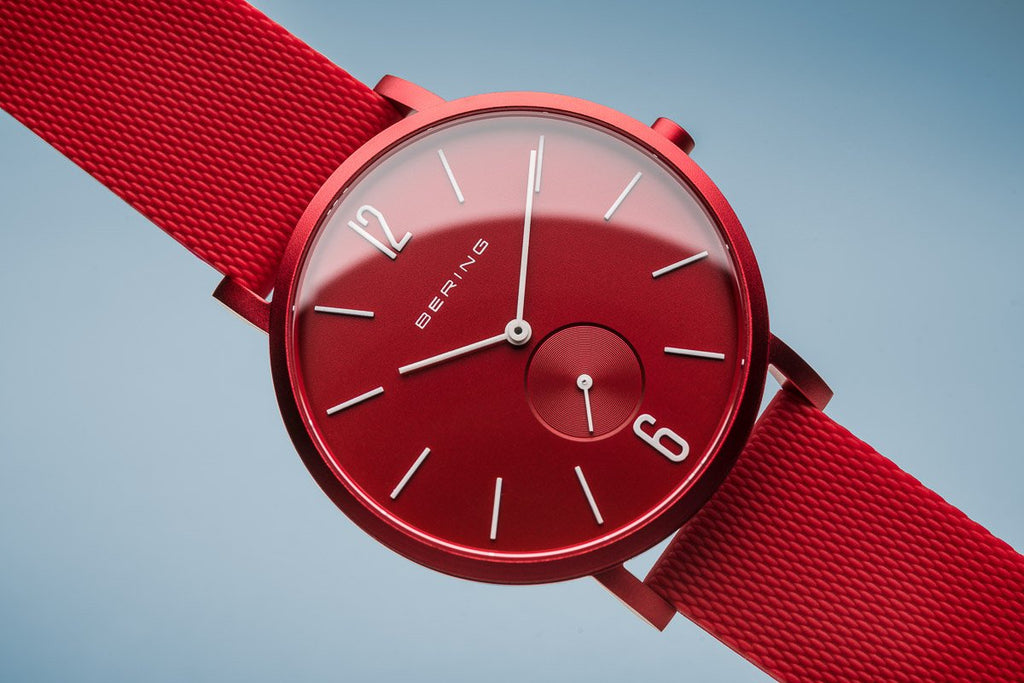 BERING True Aurora Matte Red 40mm Unisex Watch 16940-599