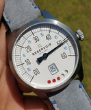 Reservoir Watch Tiefenmesser White Dial Grey Strap Men's Watch RSV03.TF/130.23