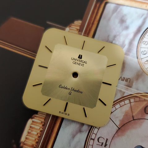 Vintage Universal Genève 23mm Square Golden Shadow Q Dial 2066 / 9066