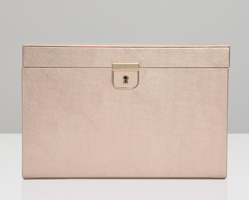 WOLF Palermo Rose Gold Large Jewelry Case 213016