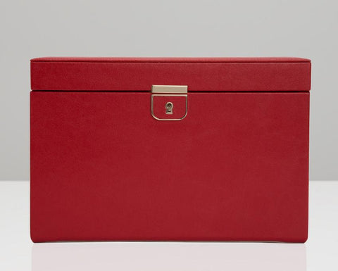 WOLF Palermo Red Large Jewelry Case 213072